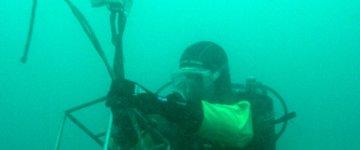 Relevage d'une sonde en plongée